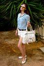 Blue-zara-shirt-white-zara-shorts-white-tory-burch-shoes-white-luella-purs