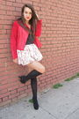 Red-zac-posen-for-target-jacket-white-skirt-gray-american-apparel-shirt-bl