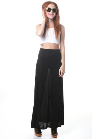 black maxi Cheap Monday skirt