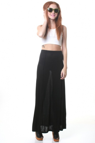 black maxi Cheap Monday skirt