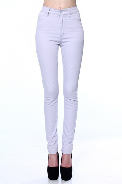 periwinkle high-waisted jeans