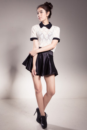 vanilla mood blouse - satin skirt ClubCouture skirt