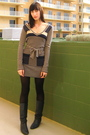 Blue-unknown-boots-black-target-tights-blue-marc-by-marc-jacobs-dress