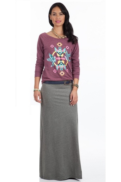 magenta Shoxie sweatshirt - navy Shoxie belt - heather gray Shoxie skirt