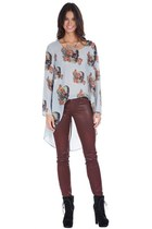 black Shoxie boots - maroon Shoxie jeans - light blue Shoxie top