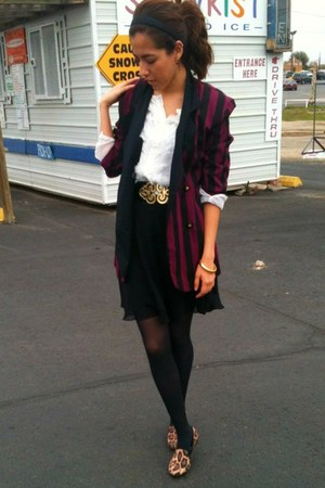 striped unknown blazer - Express skirt