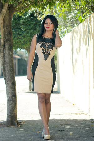dress VESSOS dress - saltos Black Five heels