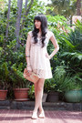 Ivory-sheer-from-overseas-dress-ivory-armani-exchange-bag