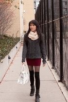 calvin klein sweater - Miu Miu bag - American Apparel socks - Forever 21 skirt