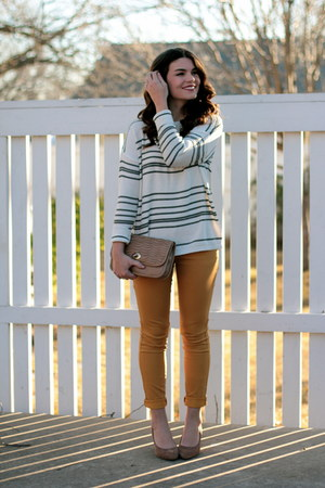 striped Forever 21 sweater - mustard Target pants