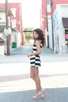 black striped lulus romper