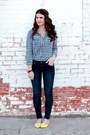 Yellow-forever-21-shoes-forever-21-jeans-gingham-forever-21-shirt