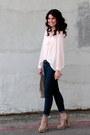 Polka-dot-target-jeans-h-m-bag-stripe-forever-21-blouse-forever-21-heels