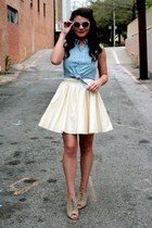 lulus skirt - lulus sunglasses - Forever 21 top