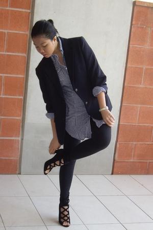 blazer - shirt - leggings - tony bianco shoes