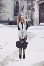 black Jessica Jensen bag - tan LA Made pants - black Akiko blouse