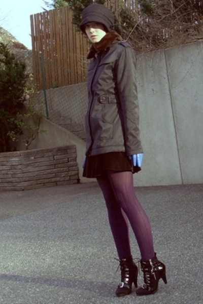 hat - - etc jacket - skirt - H&M tights - Ellos shoes