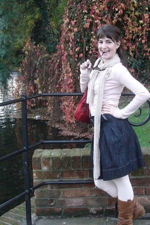 Zara boots - Zara jacket - Promod shirt - Stradivarius scarf - longchamp bag - Z