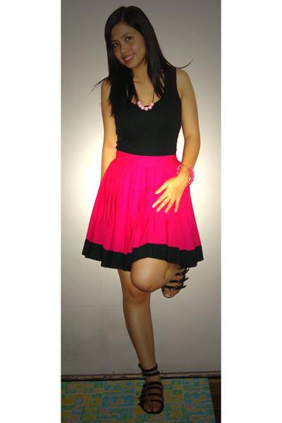 Divi top - ukay skirt - Popremix shoes - handmade accessories