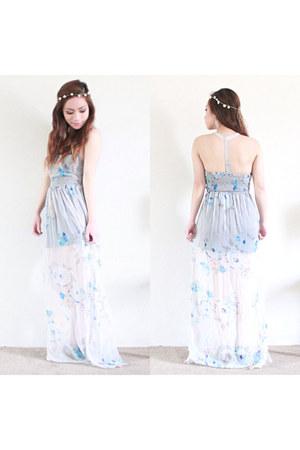 periwinkle chiffon Charlotte Russe dress