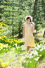 Light-yellow-house-of-recollections-dress-ivory-greenwood-store-hat