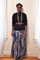 banana republic sweater - random NYC store dress - H&M accessories