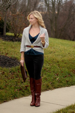 banana republic sweater - Nine West boots - Limited shirt - cynthia rowley bag