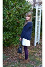 Brown-fringe-minnetonka-boots-ivory-h-m-dress-navy-gap-sweater