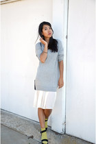 silver sweater 31 Phillip Lim dress - black Zara sandals