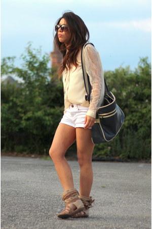River Island bag - Miss Selfridge shirt - Primark shorts