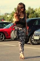 black Zara vest - black Zara heels - black Primark pants