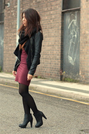 new look jacket - new look boots - H&amp;M dress