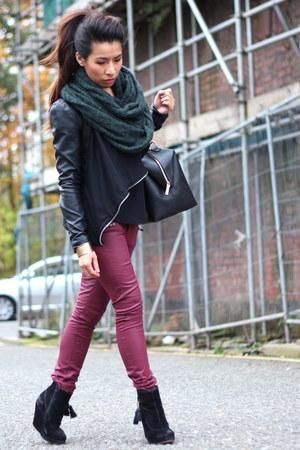 new look jacket - Primark boots - Zara bag - H&M pants
