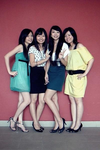 dress - belt - shoes