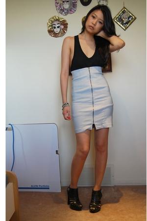 Alexander Wang top - Purple Label skirt - payless shoes