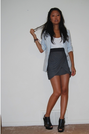 Zara top - Zara blazer - Urban Outfitters skirt - payless shoes