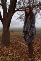 thigh-high ShopRuche boots - Bunnys dress - fairisle Urban Outfitters sweater