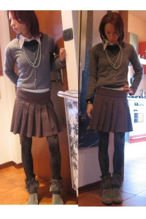 MALO blazer - ferre shirt - Vintage Moschino skirt - socks - Le Silla boots