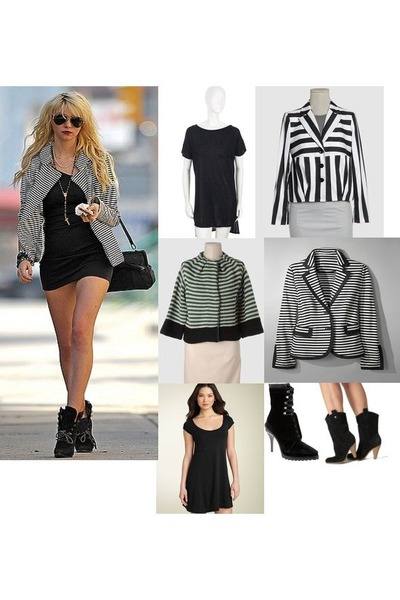black Alexander Wang dress - black Alexander Wang boots - silver Missoni blazer