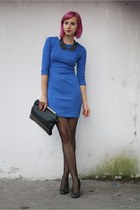 H&M dress - DGM shoes - H&M tights - Stradivarius bag - New Yorker necklace