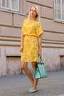 Light-yellow-zara-dress-aquamarine-nowistyle-bag-aquamarine-zara-sandals
