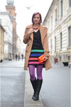 multicolored Tiramisu alle fragole dress - camel Topshop coat