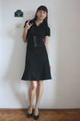 Black-hot-topic-dress-gray-dgm-shoes