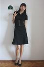 Black-hot-topic-dress-gray-dgm-shoes