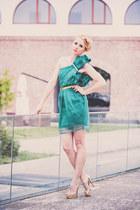 gold Essenza sandals - teal Md Burnette dress