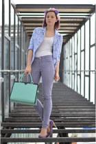 aquamarine nowIStyle bag - light purple Vero Moda bag - purple Filty shoes
