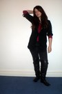 Maroon-gap-sweater-black-dorothy-perkins-cardigan-black-primark-jeans-blac