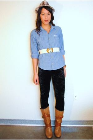 Urban Renewal blouse - thrifted belt - Target hat - Miss Sixty shoes - Forever 2