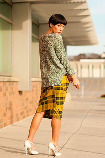asos skirt - Nasty Gal sweater - asos pumps