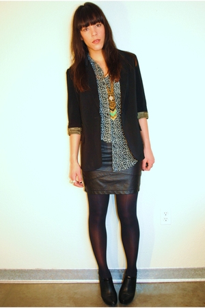 bycorpus blouse - Forever 21 jacket - Forever 21 shoes - Forever 21 skirt - Fore